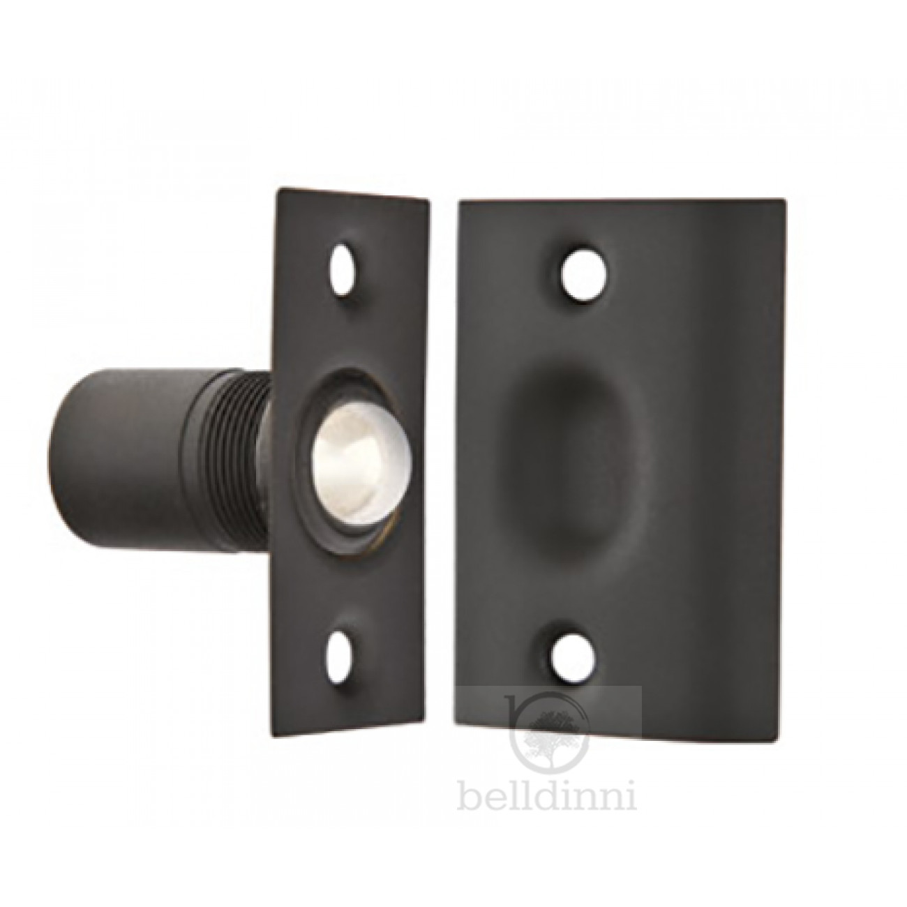 BALL & CATCH SOLID BRASS - 8802 US19 FLAT BLACK