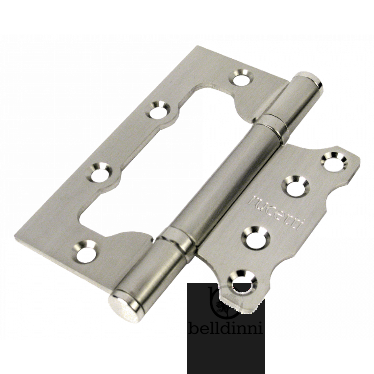 HINGE BUTTERFLY RFH-100*75*2.5 RUCETTI SN SATIN NICKEL