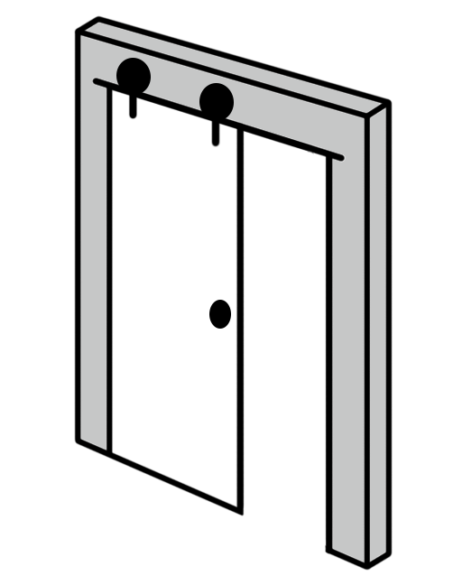 A Full Opening Of A Door Making The Impression Of Complete Space. It Is  Practical And It Is Convenient For Disabled People Movement Or Cleaning The  Room.